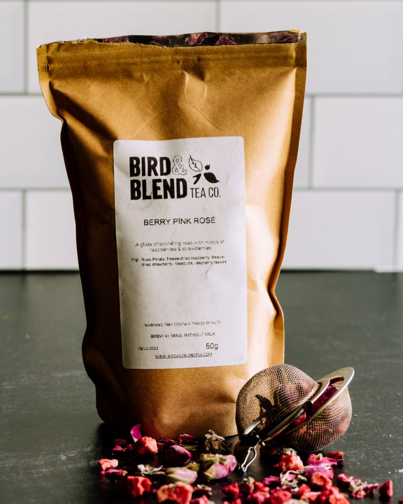 Bird and Blend Tea Co Berry Pink Rose Tea
